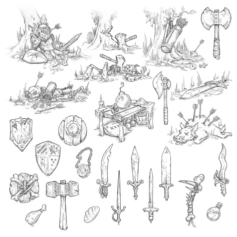 Sketches for a board game concept