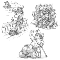 Pirate Sketches
